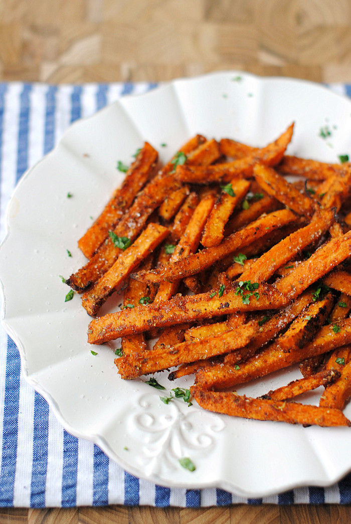 Spicy Sweet Potato Fries  Sweet and Spicy Sweet Potato Fries Eat Yourself Skinny