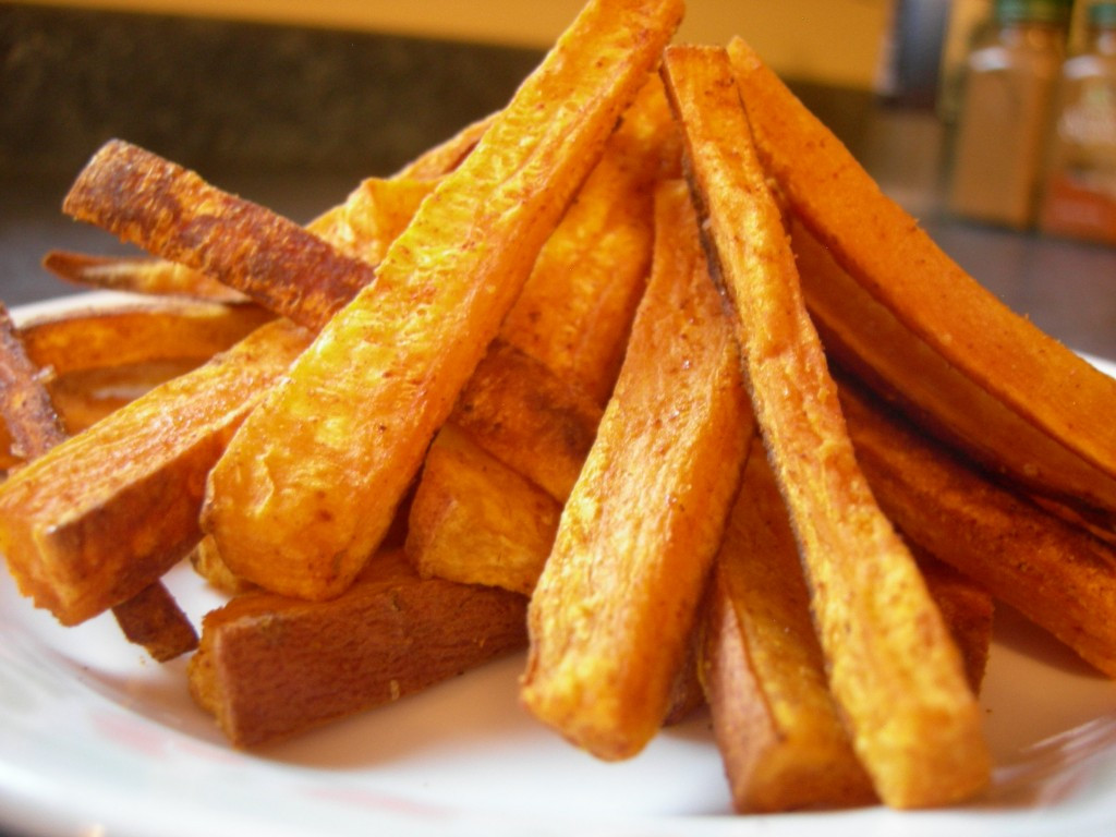 Spicy Sweet Potato Fries  Spicy Baked Sweet Potato Fries