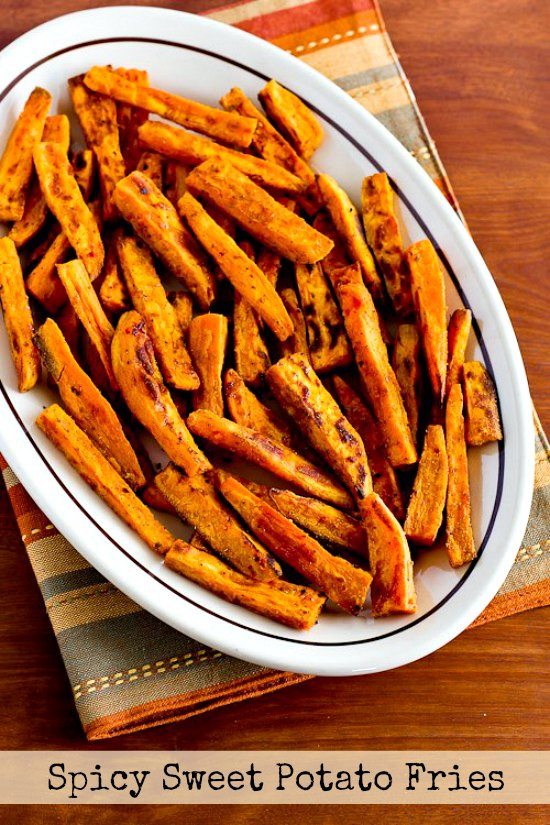 Spicy Sweet Potato Fries  Spicy Baked Sweet Potato Fries VIDEO Kalyn s Kitchen