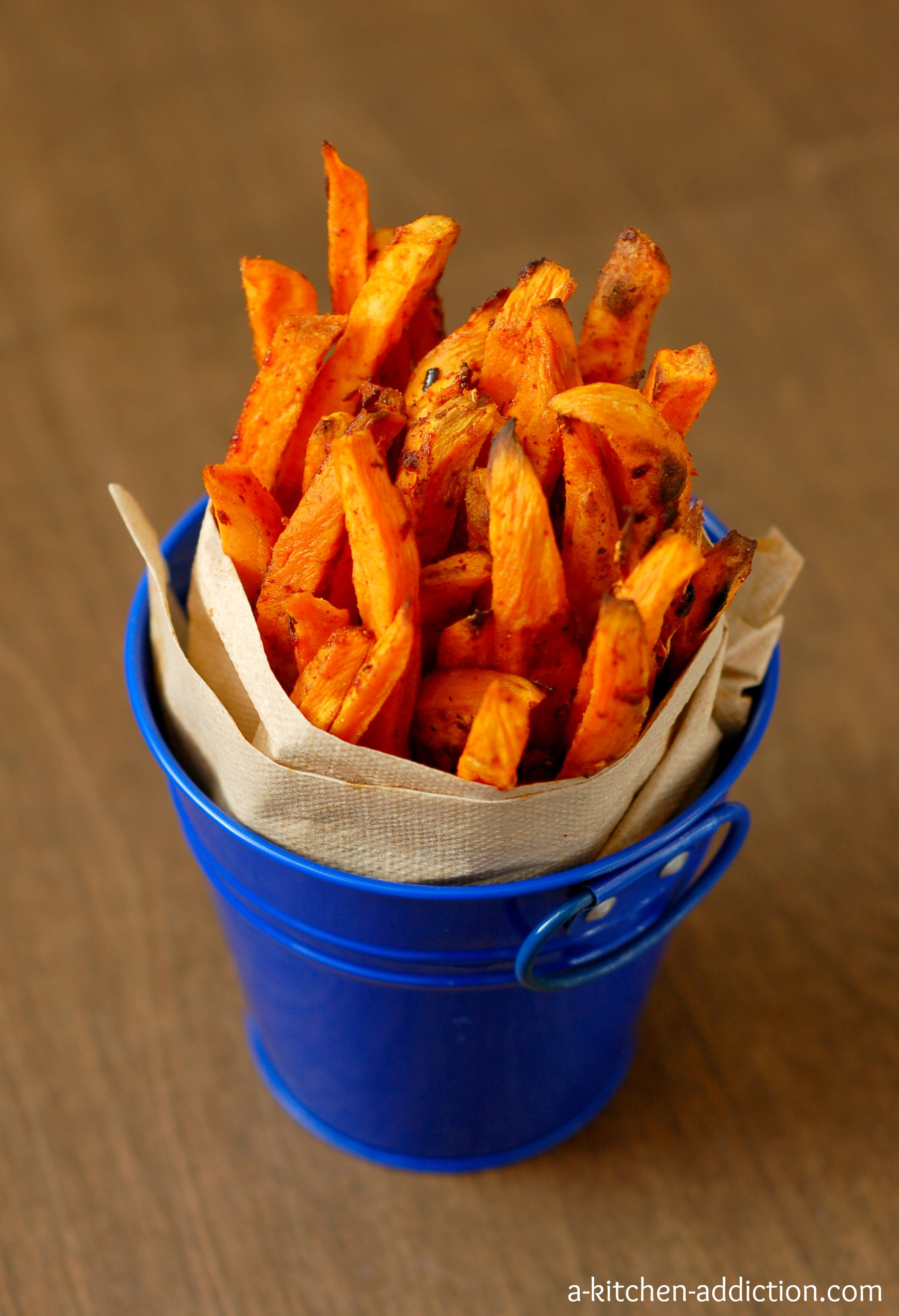 Spicy Sweet Potato Fries  Spicy Sweet Potato Fries A Kitchen Addiction