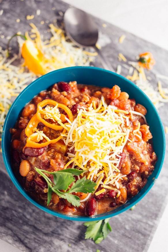 Spicy Turkey Chili Recipe  Spicy Turkey Habanero Crock Pot Chili Dad With A Pan