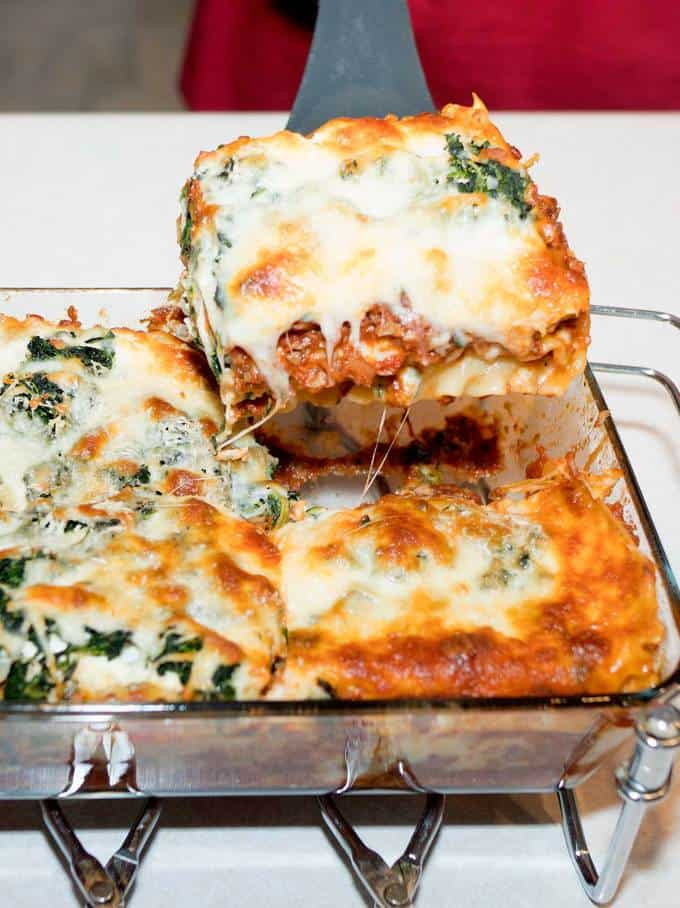 Spinach And Mushroom Lasagna  Spinach and Mushroom Lasagna The Pudge Factor