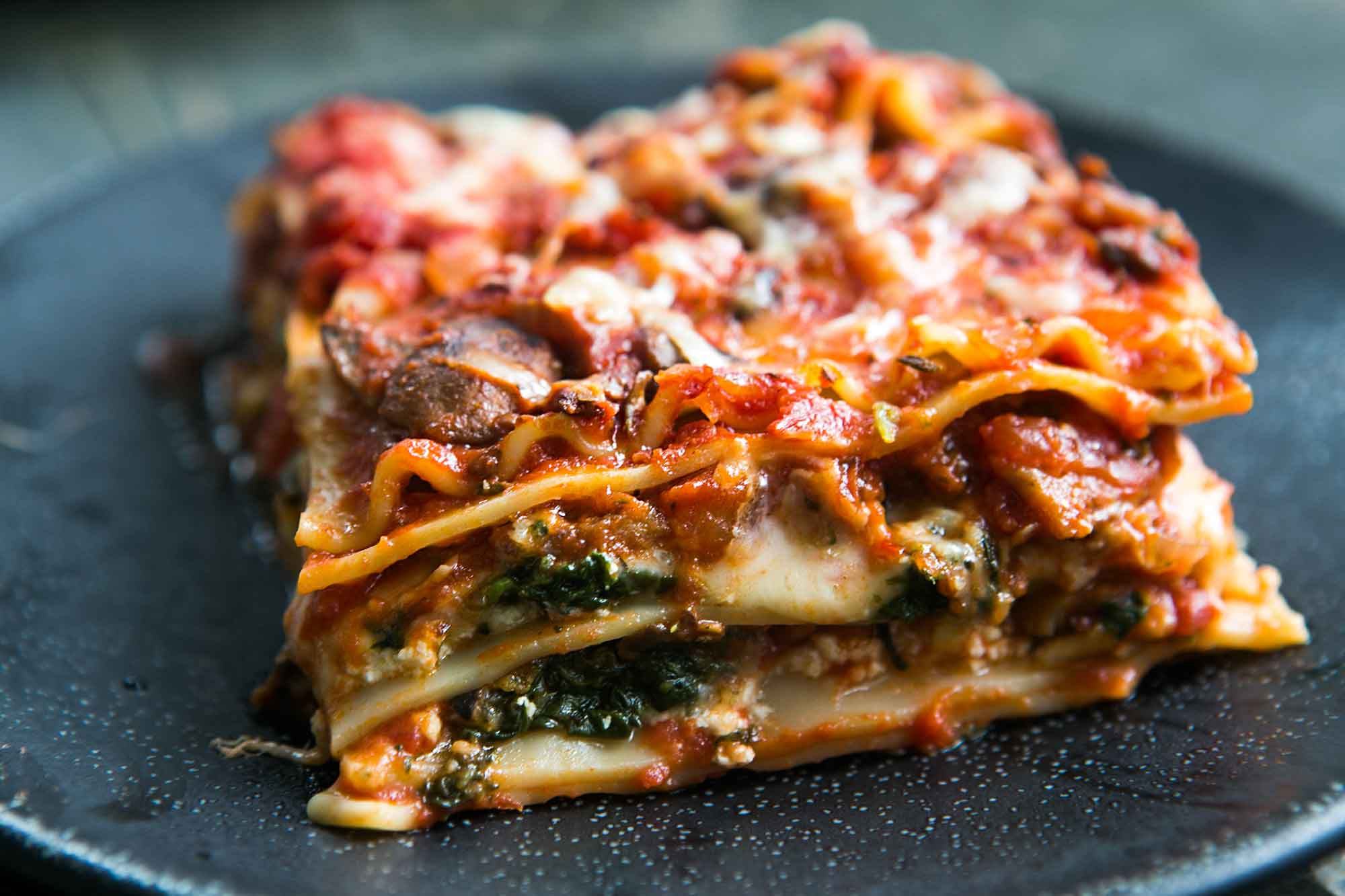 Spinach And Mushroom Lasagna  Ve arian Lasagna Recipe Spinach and Mushroom Lasagna