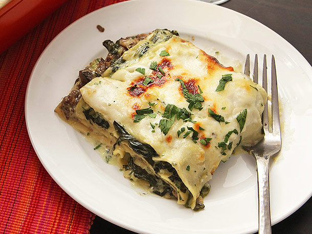 Spinach And Mushroom Lasagna  The Food Lab Lite Ultra Creamy Spinach and Mushroom