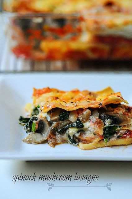 Spinach And Mushroom Lasagna  1000 images about Noodles and Pasta on Pinterest