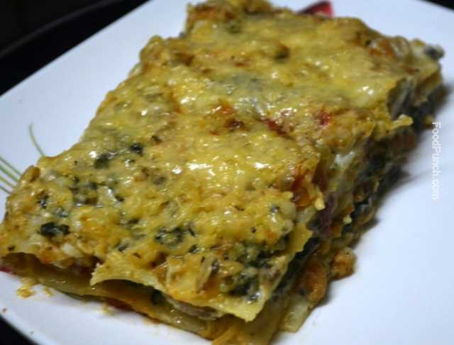 Spinach And Mushroom Lasagna  Spinach and Mushroom Lasagna Recipe FoodPunch