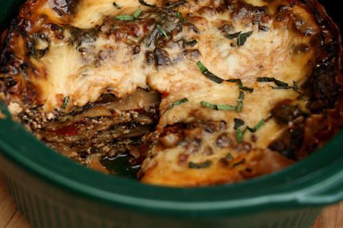 Spinach Mushroom Lasagna  slow cooker spinach mushroom lasagna