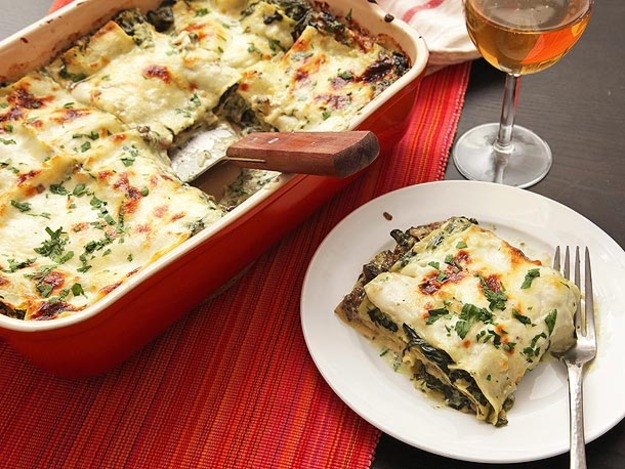 Spinach Mushroom Lasagna  Ultra Creamy Spinach and Mushroom Lasagna Recipe