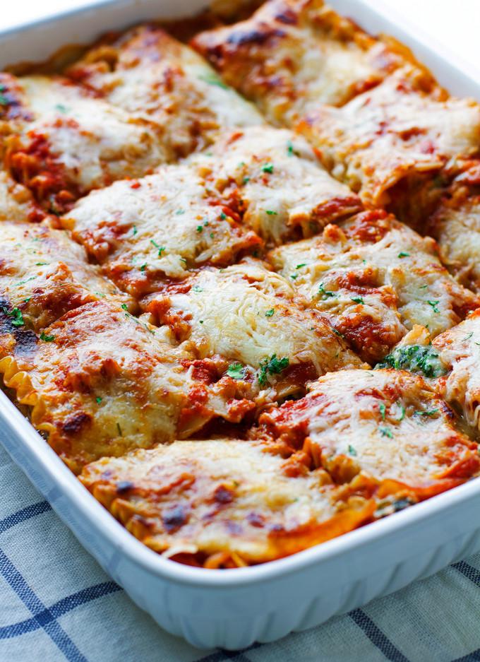 Spinach Mushroom Lasagna  Skinny Mushroom Spinach Lasagna Recipe