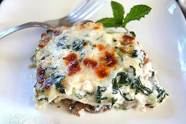 Spinach Mushroom Lasagna  Jewel Osco Easy Lasagna Recipes for the Fall
