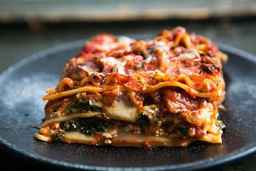 Spinach Mushroom Lasagna  Ve arian Lasagna Recipe Spinach and Mushroom Lasagna