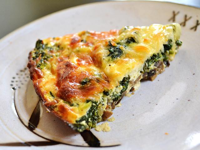 Spinach Mushroom Quiche Recipe  Spinach Mushroom and Feta Crustless Quiche Bud Bytes