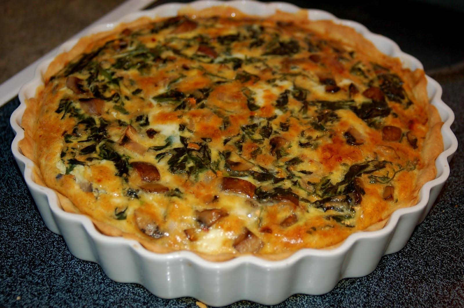 Spinach Mushroom Quiche Recipe  Spinach Mushroom Quiche Recipe — Dishmaps