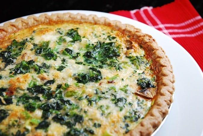 Spinach Mushroom Quiche Recipe  Cheesy Spinach and Mushroom Quiche Recipe – 5 Points