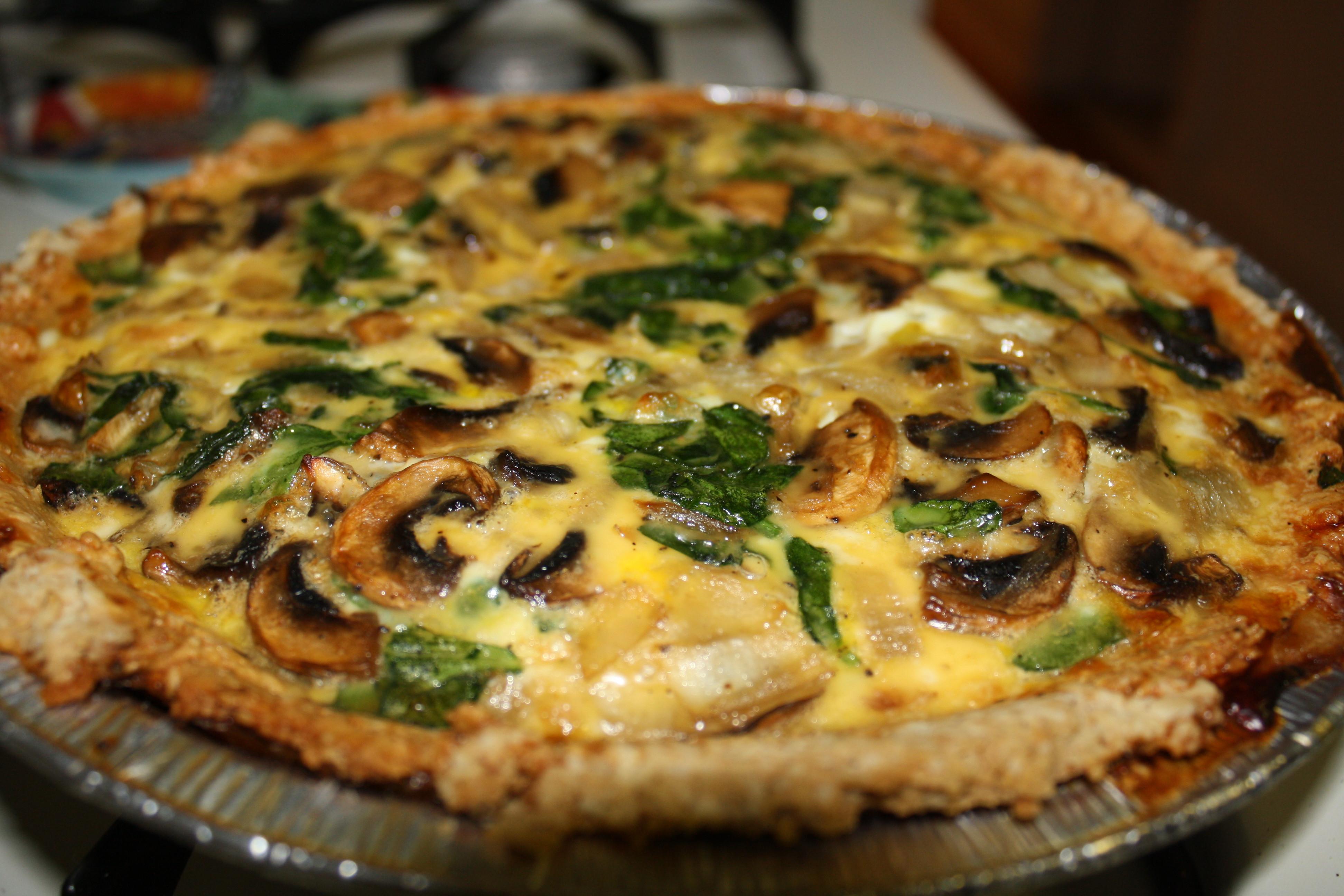 Spinach Mushroom Quiche Recipe  onion mushroom & spinach quiche