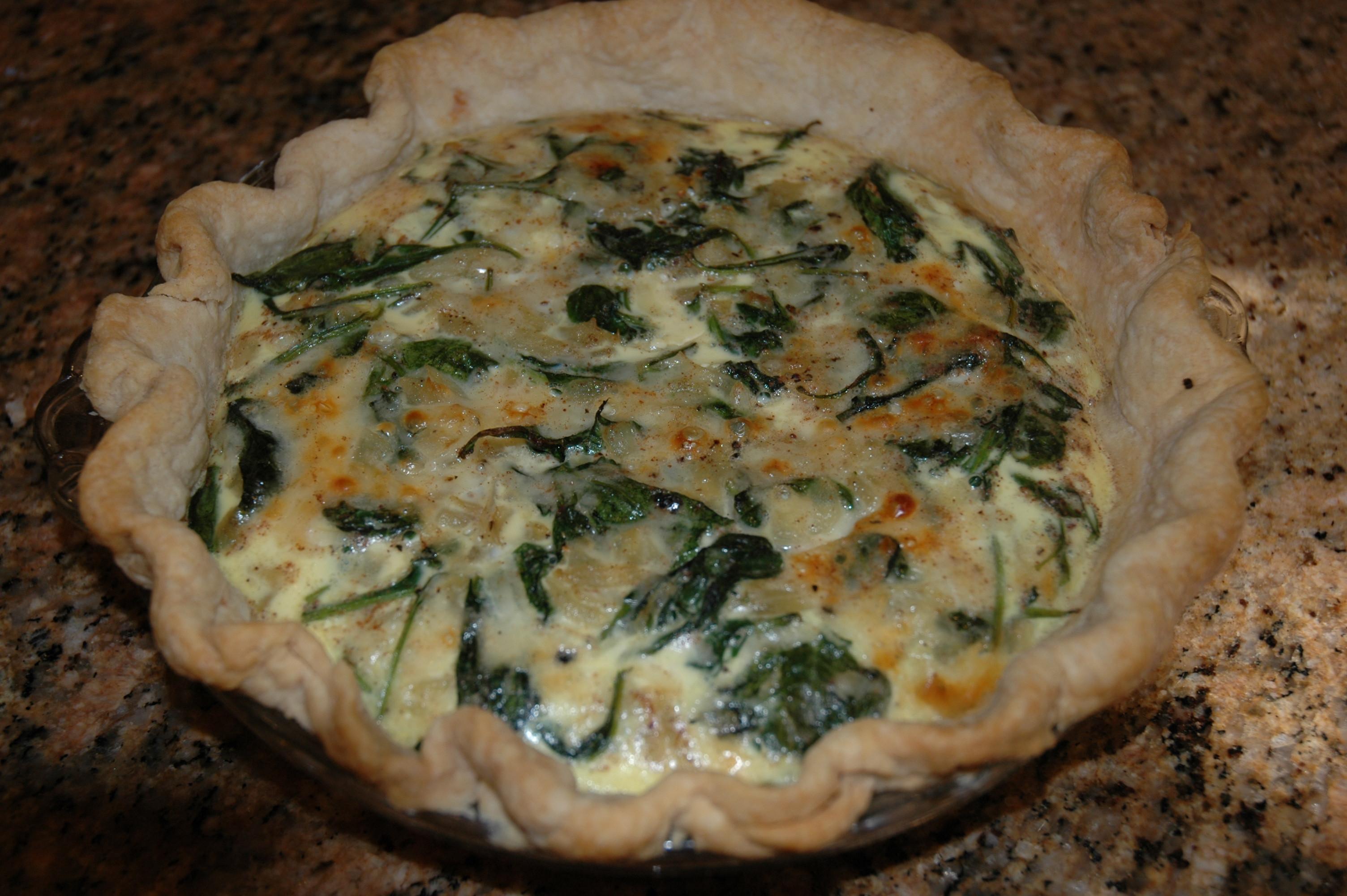Spinach Mushroom Quiche Recipe  Spinach and Mushroom Quiche