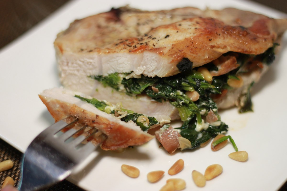 Spinach Stuffed Pork Chops  Low Carb Stuffed Pork Chops with Spinach Thriving on Low