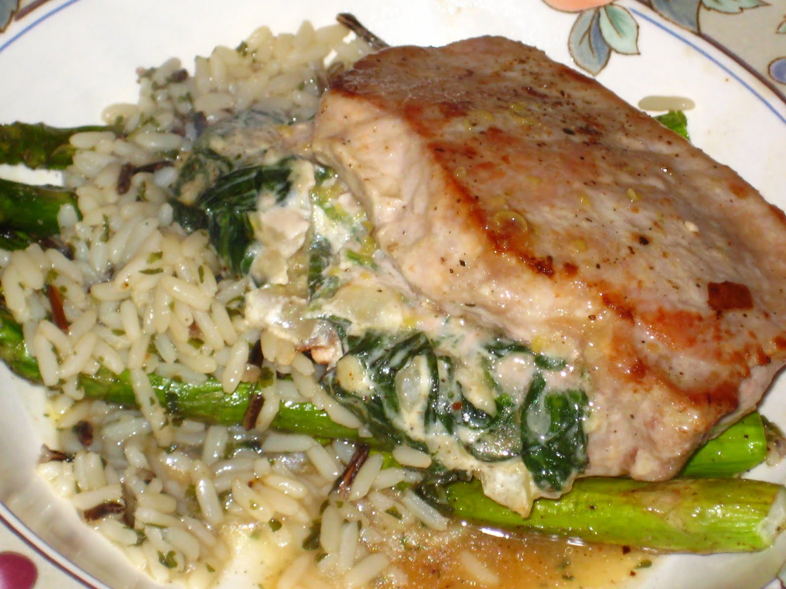 Spinach Stuffed Pork Chops  Spinach and Goat Cheese Stuffed Pork Chops