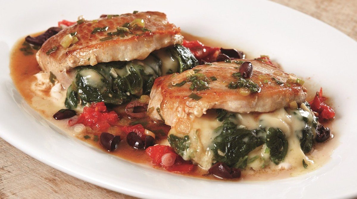 Spinach Stuffed Pork Chops  At Pépin's Table Spinach Stuffed Pork Loin Chops – Food