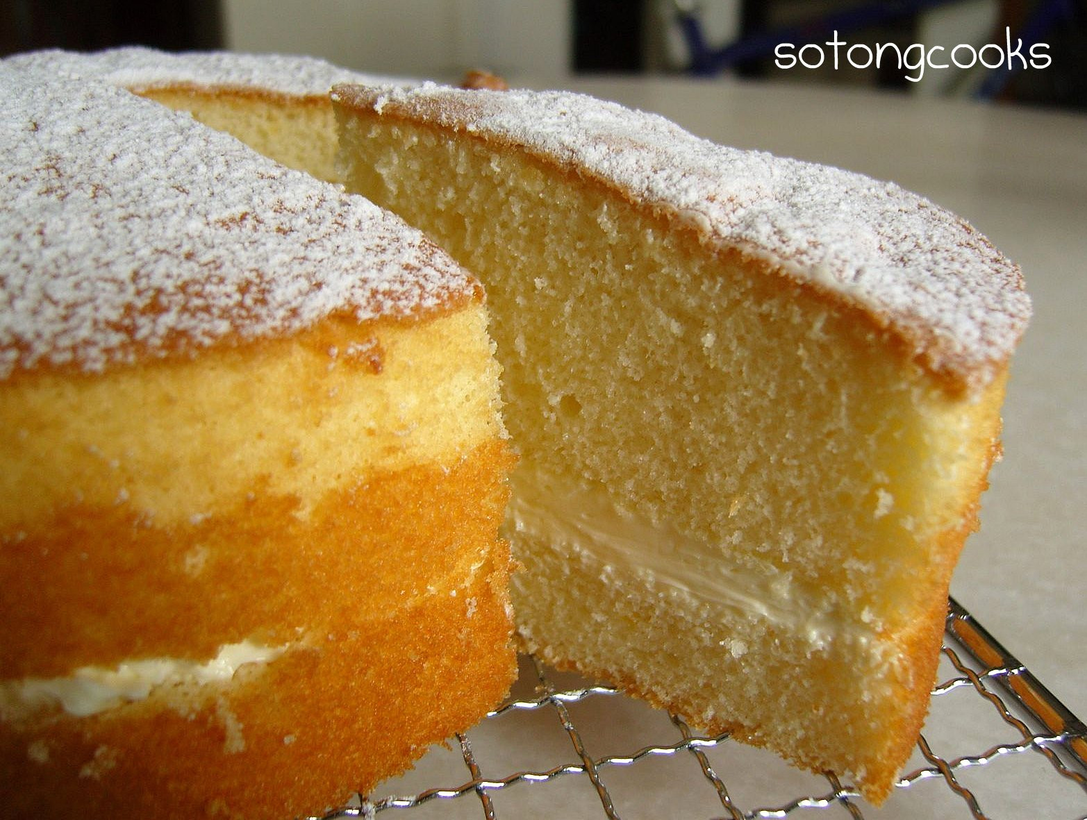 Sponge Cake Recipe  Sotong Cooks Cooking it my way The Almost Perfect