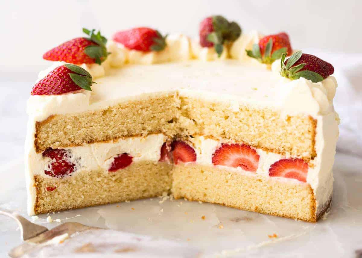 Sponge Cake Recipe  vanilla sponge cake recipe birthday