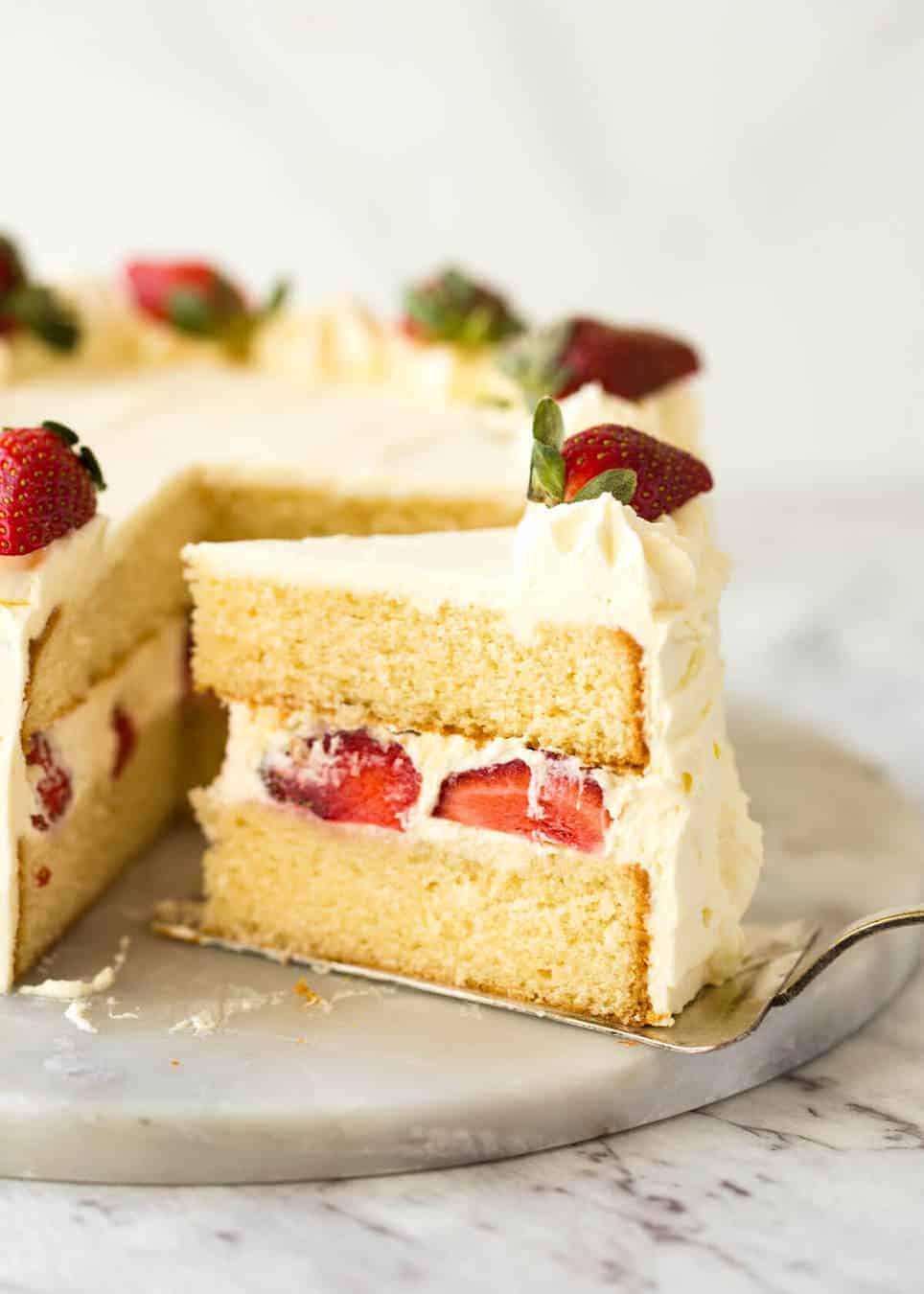 Sponge Cake Recipe  Vanilla Sponge Cake