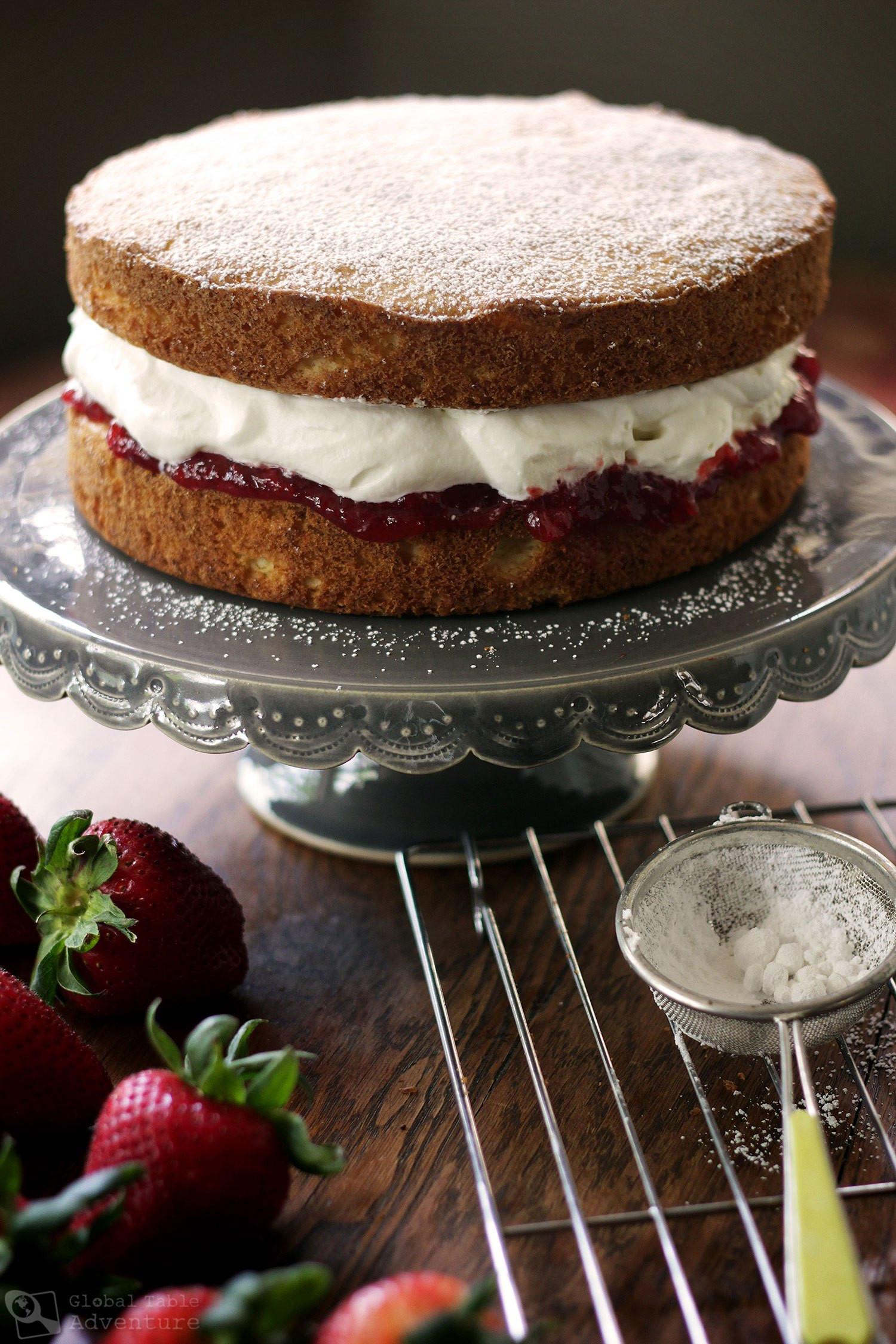Sponge Cake Recipe  British Victoria Sponge Cake