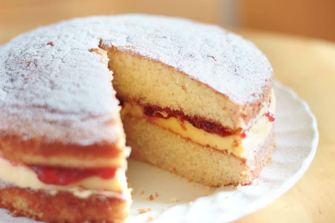 Sponge Cake Recipe  Victoria Sponge Cake with Butter Cream Erren s Kitchen