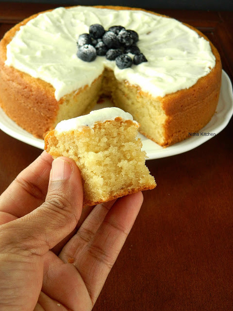 Sponge Cake Recipe From Scratch  Nitha Kitchen Eggless Almond Sponge Cake Recipe From Scratch