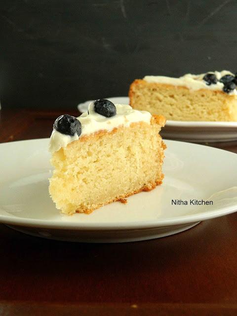 Sponge Cake Recipe From Scratch  Eggless Almond Sponge Cake Recipe From Scratch Nitha Kitchen