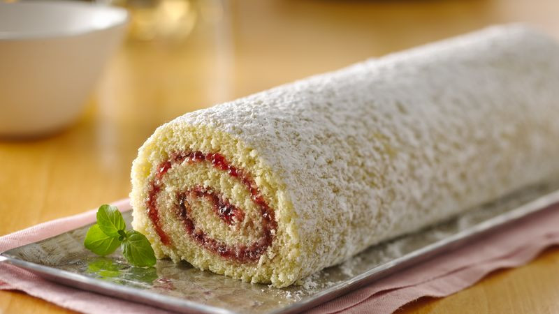 Sponge Cake Roll  Jelly Roll Cake Recipe BettyCrocker