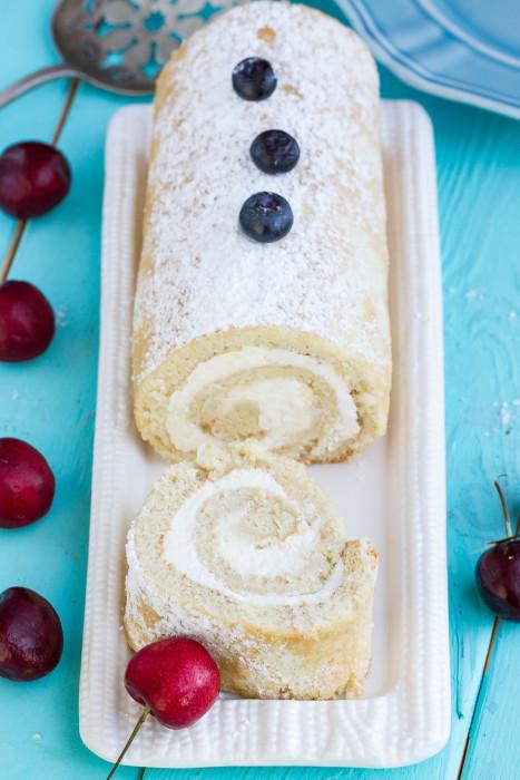 Sponge Cake Roll  Vanilla Sponge Cake Roll with Berries Life Made Sweeter