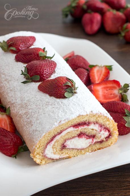 Sponge Cake Roll  strawberry sponge cake roll