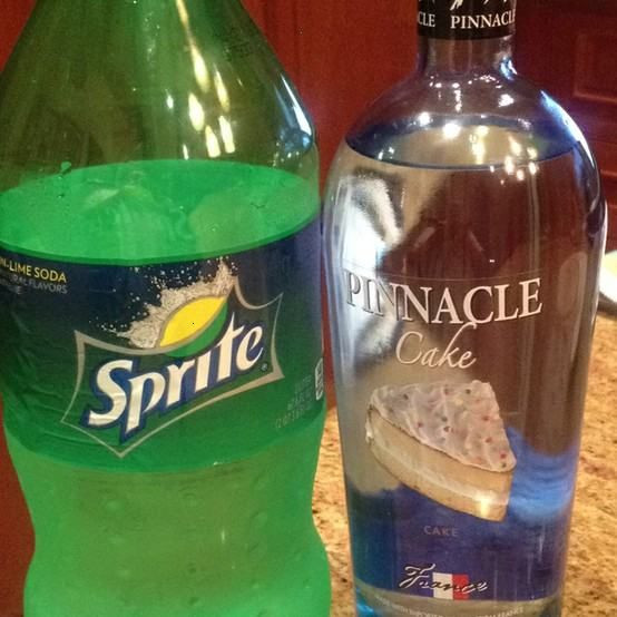 Sprite And Vodka Drinks  pinnacle cake vodka and sprite= adult key lime pie in a