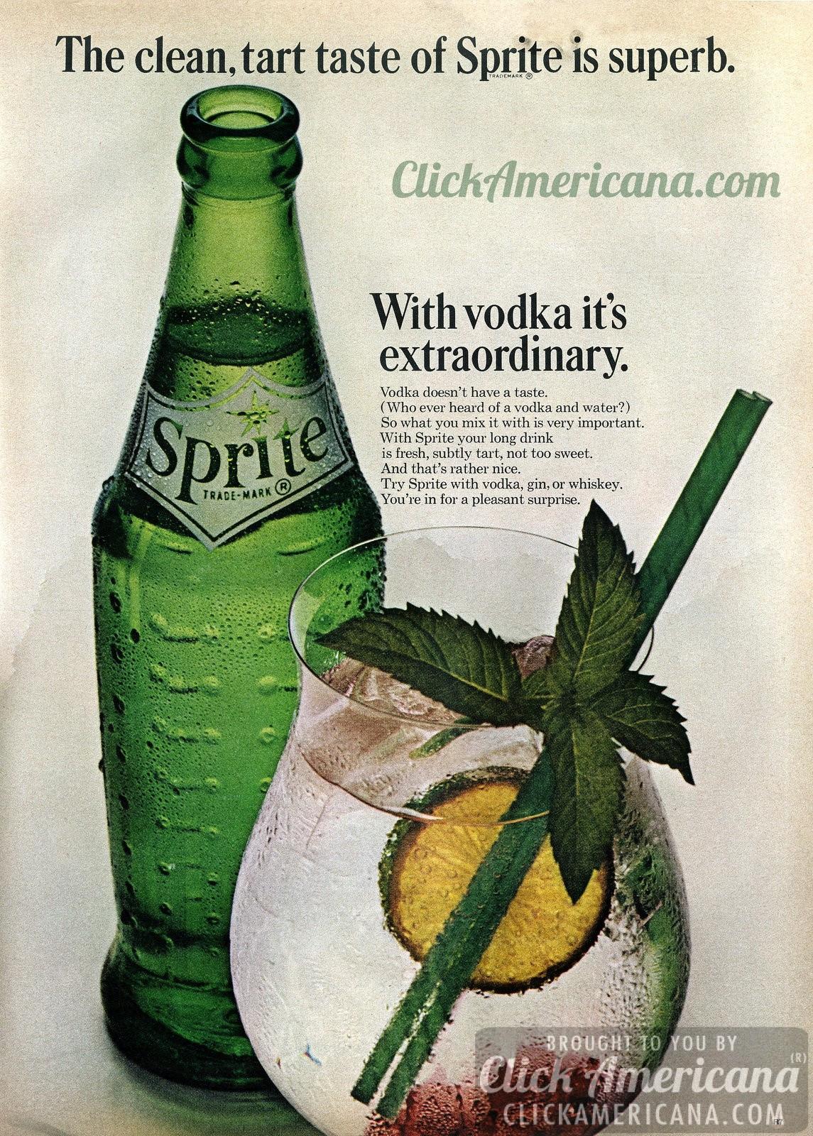 Sprite And Vodka Drinks  Sprite Extraordinary with vodka 1963 Americana