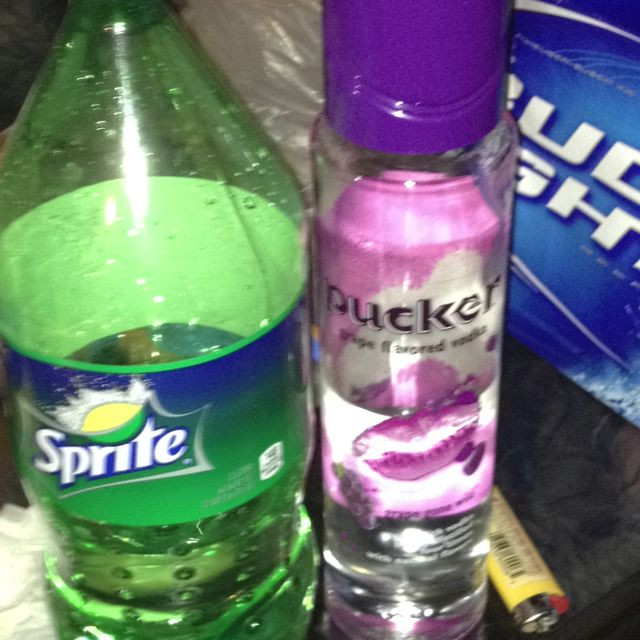 Sprite And Vodka Drinks  Grape pucker vodka and sprite Drinks