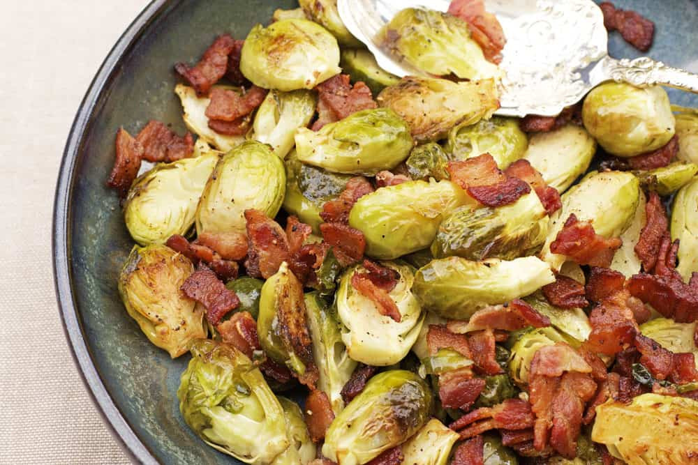Sprouts Thanksgiving Dinner  Roasted Brussels Sprouts Recipe with Bacon 365 Days of