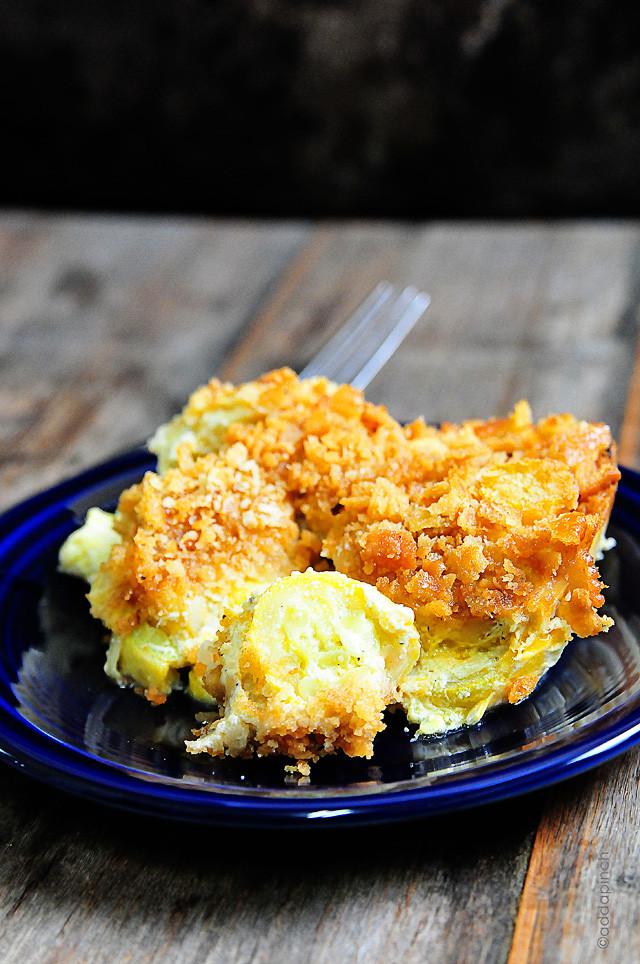 Squash Casserole Recipe  squash casserole with sour cream and cream of chicken soup