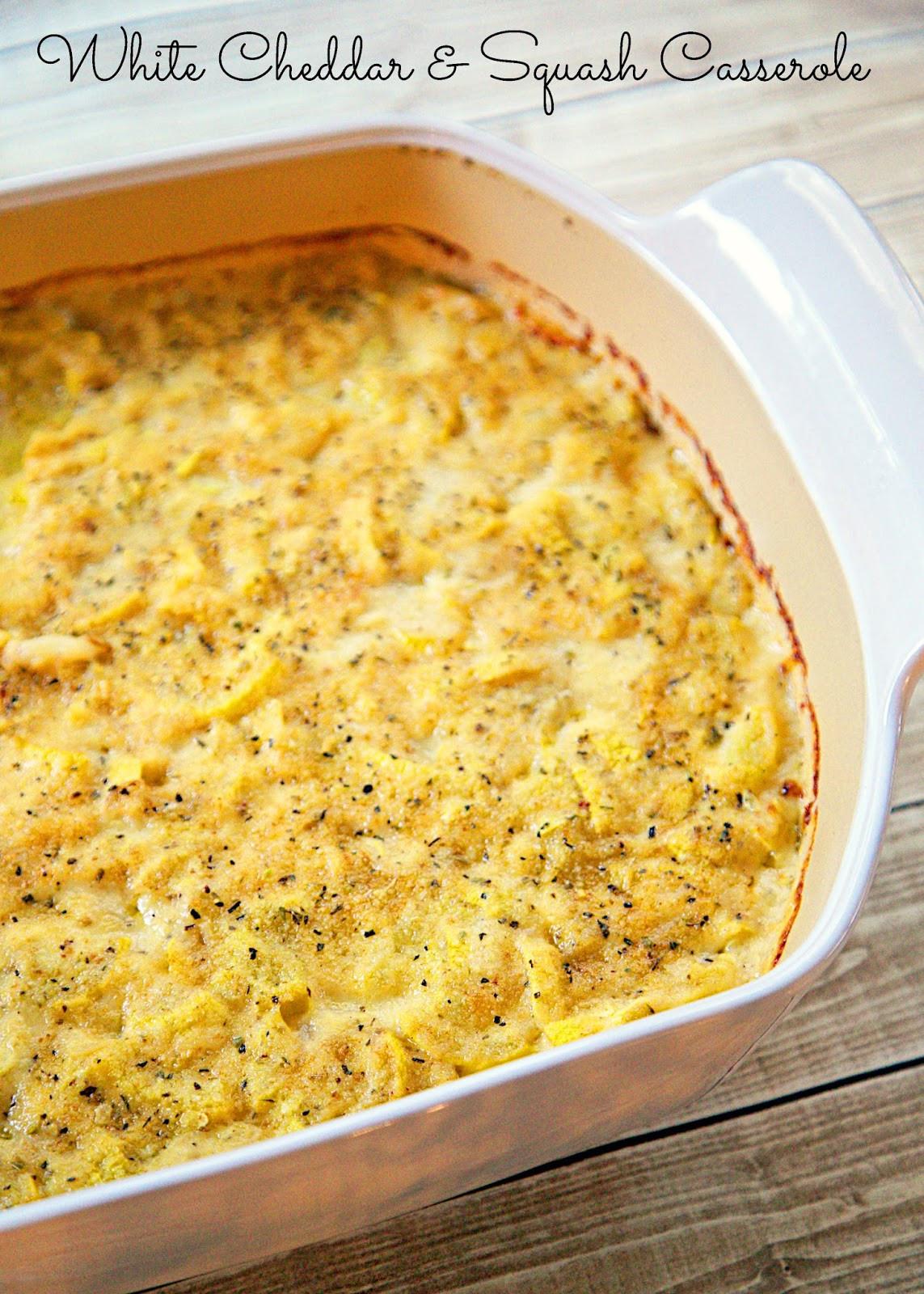 Squash Casserole Recipe  White Cheddar & Squash Casserole