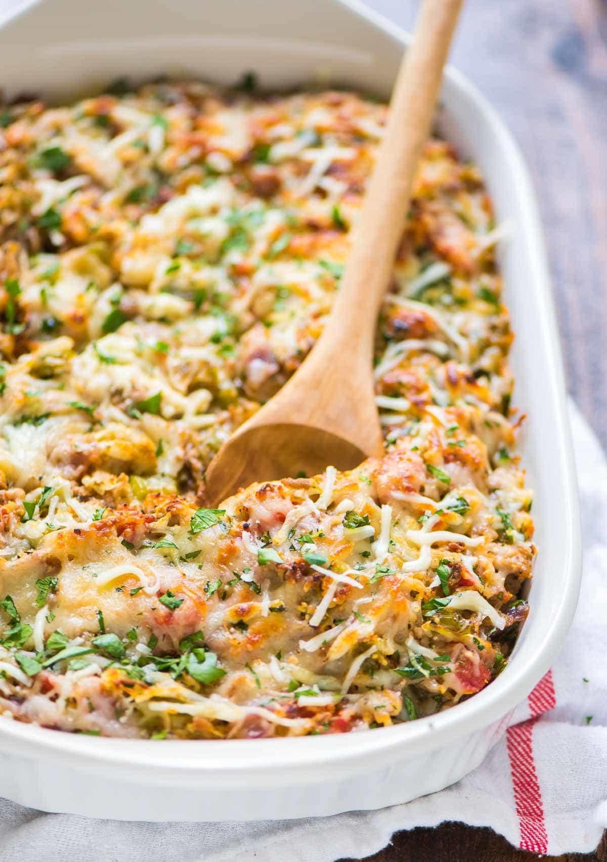 Squash Casserole Recipe  Spaghetti Squash Casserole