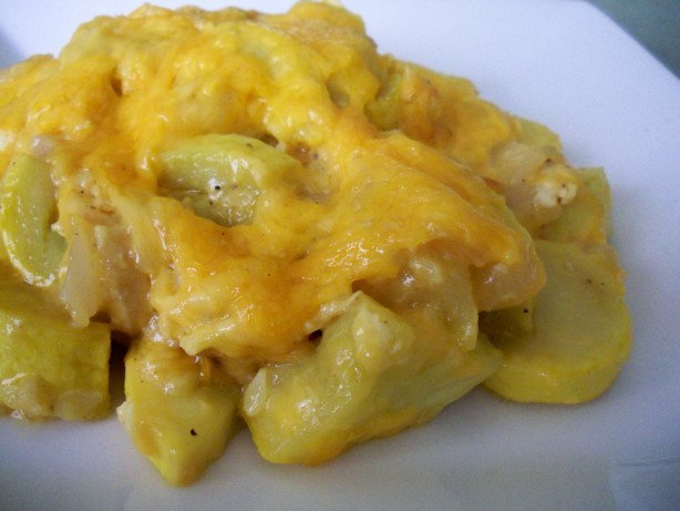 Squash Casserole With Stuffing  Better Squash Casserole No Bread Crumbs Crackers