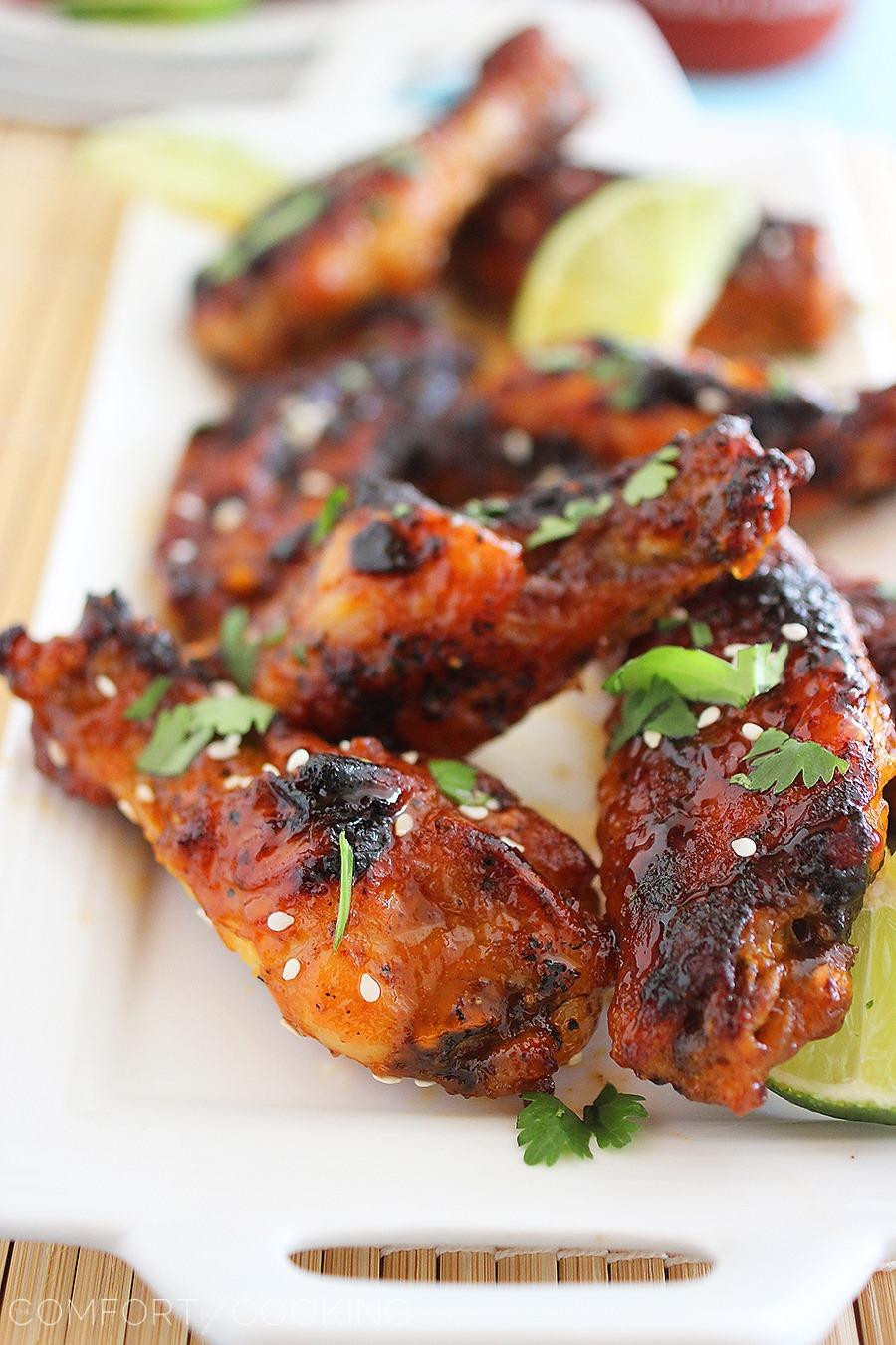 Sriracha Chicken Wings  Top 40 Christmas Baking Recipes Christmas Celebration