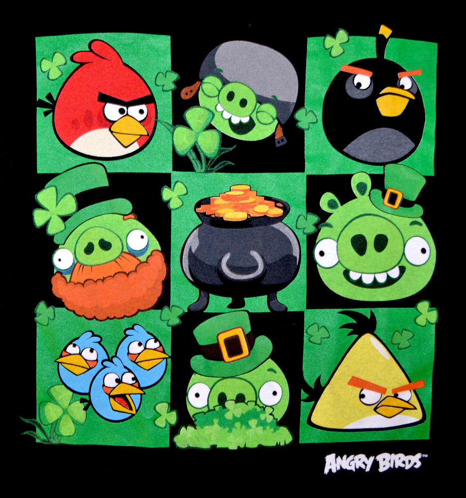 St. Patrick'S Day Cupcakes  Angry Birds Graphic Tee St Patrick s Day Themed T shirt