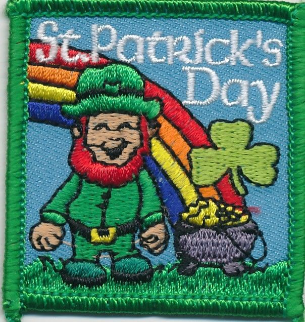 St. Patrick'S Day Cupcakes  Girl Boy Cub ST PATRICK s RAINBOW DAY Fun Patches Crests