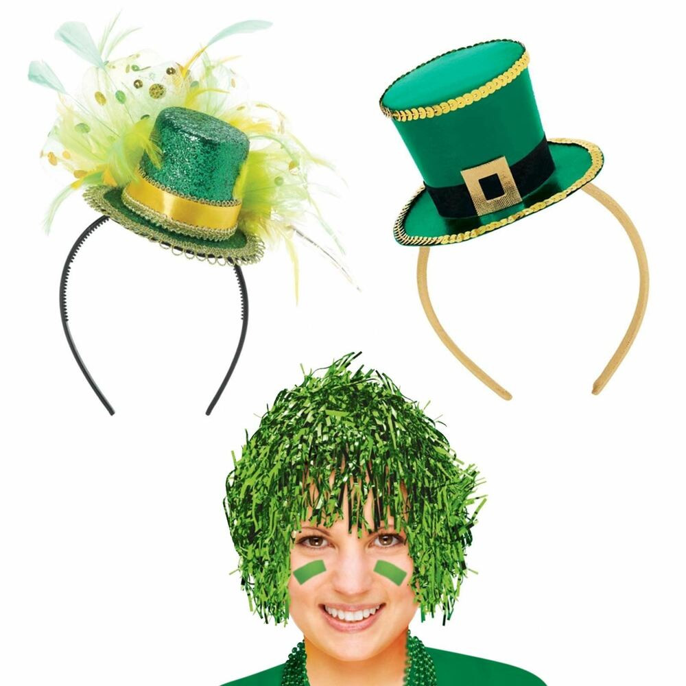 St. Patrick'S Day Cupcakes  St Patrick s Day Wig Fancy Headband Bopper Top Hat