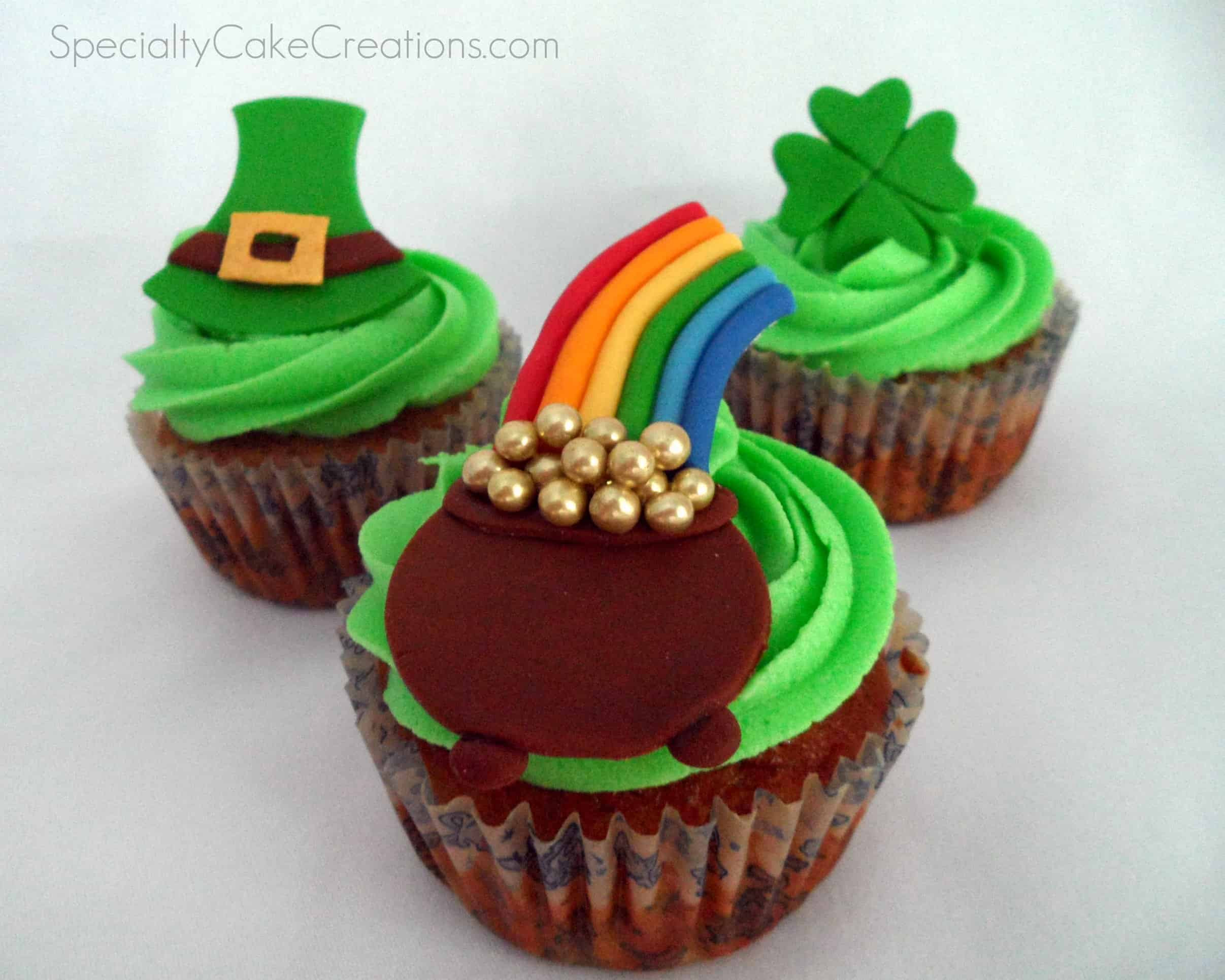 St Patricks Day Cupcakes  St Patrick s Day Cupcake Toppers