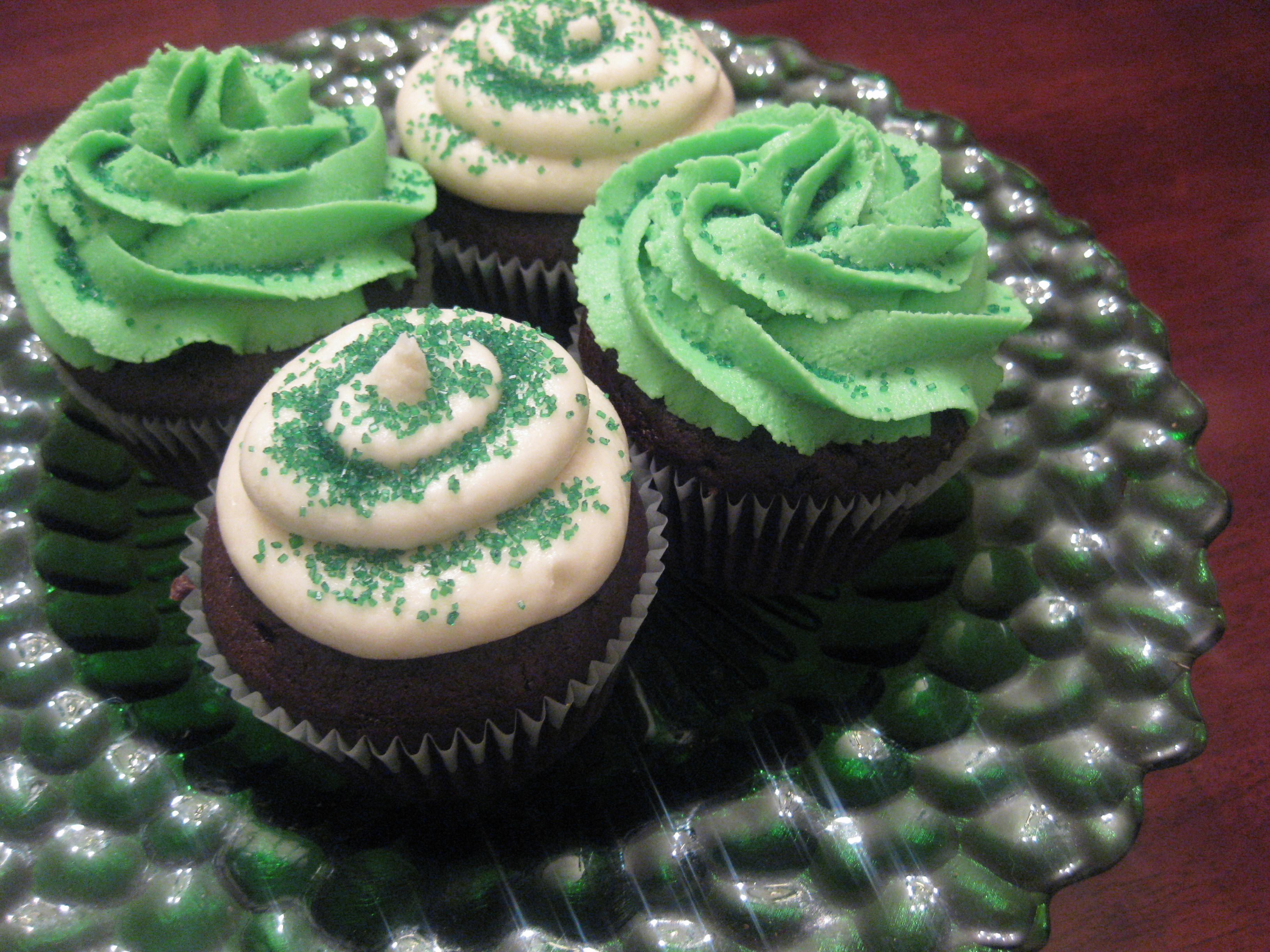 St Patricks Day Cupcakes  St Patrick's Day Irish Creme Cupcakes