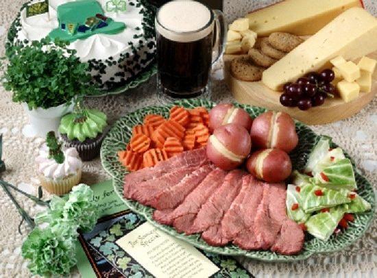 St Patricks Day Dinner  St Patricks Day Dinner MENU