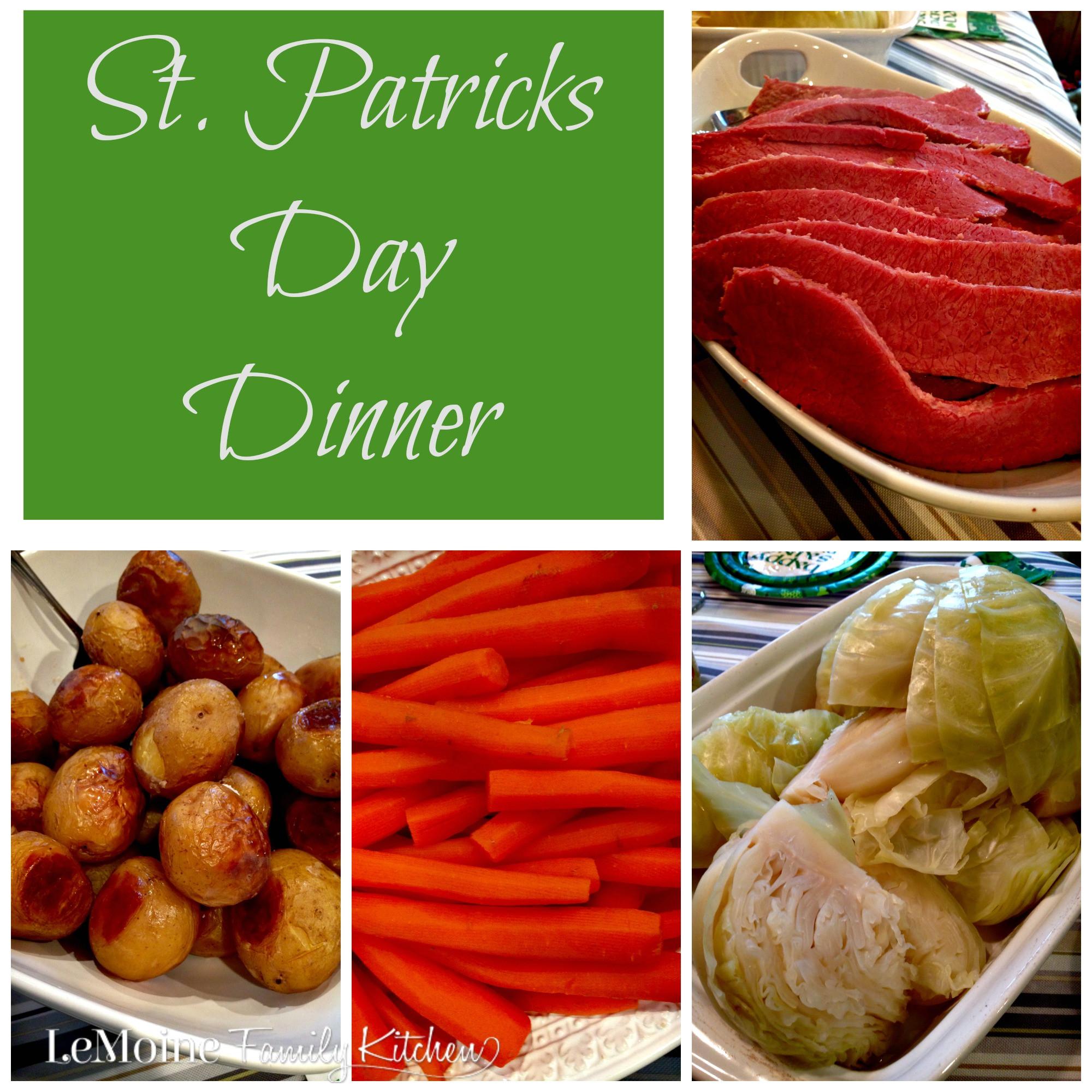 St Patricks Day Dinner  St Patricks Day Dinner LeMoine Family Kitchen