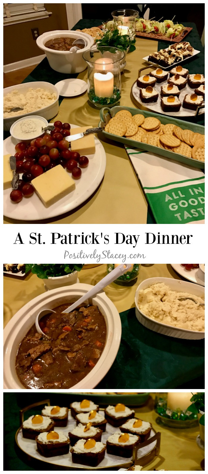 St Patricks Day Dinner  A Saint Patrick s Day Table and Dinner Menu Positively